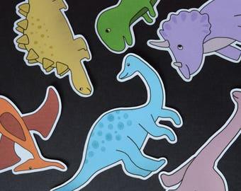Large Dinosaur Embellishments - T Rex, Pterodactyl, Stegosaurus, Diploducus - Decorations / Crafting Supplies / Card Making / Kids Crafting
