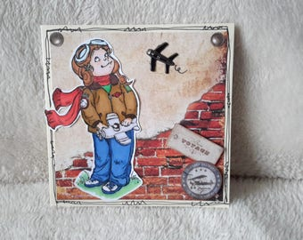 Hand made card little Aviator