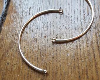 1 half silver bracelet connector