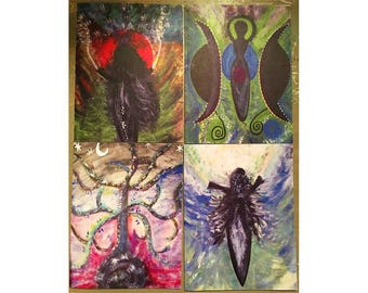 Goddess Art Blank Note Card Set