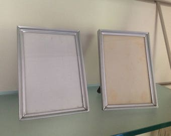 Set two vintage silver photo frame