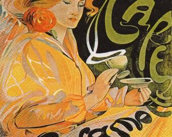 COCK 076 Café JACQMOTTE 1 paper cocktail napkin