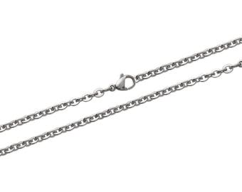 Steel thickness 3 mm length 45 or 50 or 55 cm trace chain