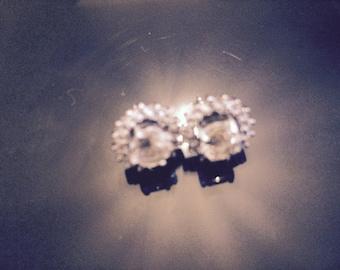 Beryl and topaz earrings