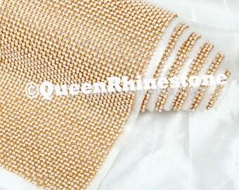 2mm Rhinestone sheet / rhinestone fabric , 46 inches long and 12  inches  wide stone size  iron-on- Highest Quality Rhinestones