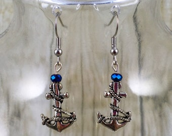 Anchor Earrings Etsy