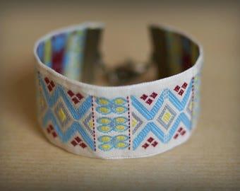 Blue Aztec Cuff Bracelet
