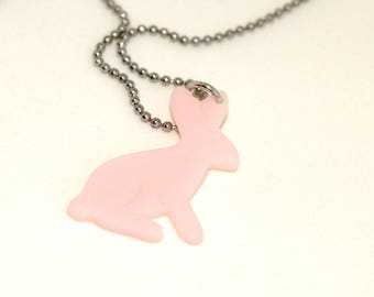 Necklace beads A Little Pink Rabbit