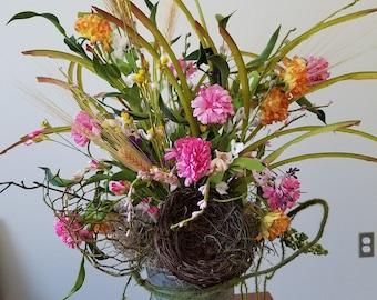 Whimsical Spring Flower Arrangement