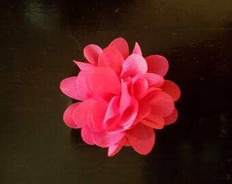 Chiffon - approx 4 cm - Fuchsia flower