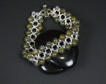 Labradorite Chainmaille Bracelet