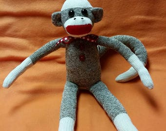 ORIGINAL Rockford Red Heel Sock Monkey