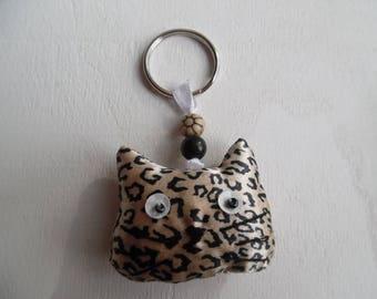 fabric cat key ring