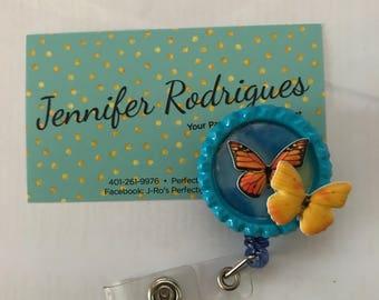 Pretty Butterfly badge reel
