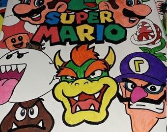 Super mario brothers canvas