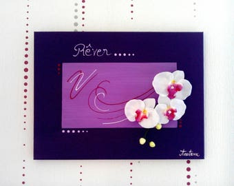 Painting floral shades of purple with white orchids