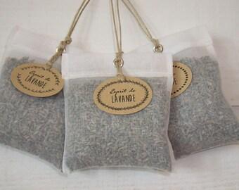 Set of 3 organza Lavender Sachets