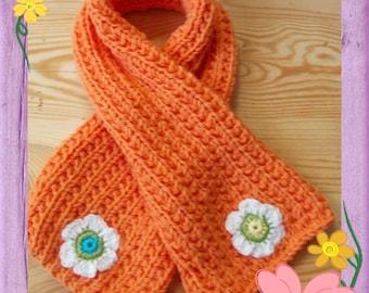 Baby layette orangeade woolen scarf