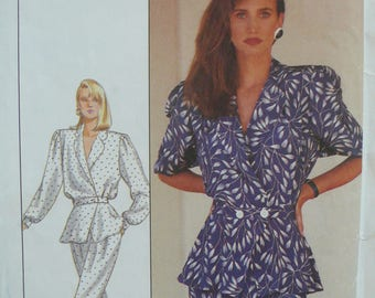 Womens Top, Pants and Skirt Pattern, Vintage Simplicity Pattern 8431 - Sizes 12