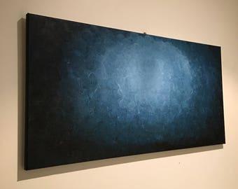 "Medium Original Textured Acrylic Painting ""Deep Sea"" 2017"