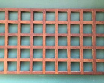 Vintage teak wood lattice tray Anri Form