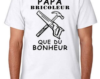 t-shirt for men dad handyman, 100% cotton, classic cut, white