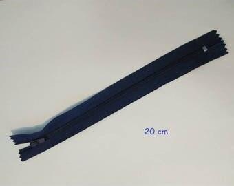 Navy Blue 20 cm nylon zipper