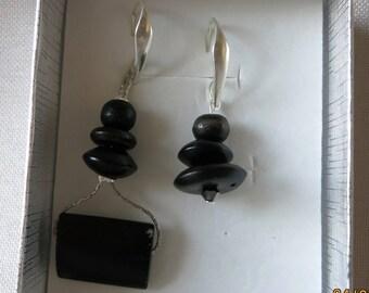 Earrings made of cedar wood 2 lengths