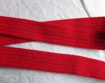 Ribbon 5 meters red strap and 2.5 cm height