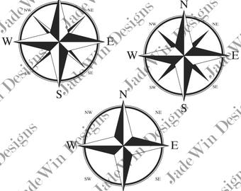 Compass Compilation Clipart - Compasses - SVG + DXF + PNG Files for Silhouette Cameo or Cricut