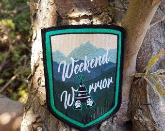 Weekend Warrior Velcro Embroidered Morale Patch
