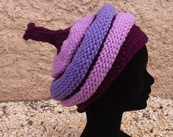 Two purples spiral Beanie