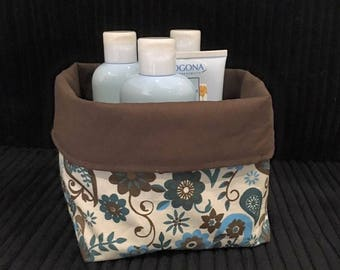 Colorful cotton fabric reversible basket