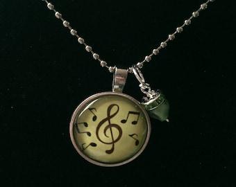 Handmade Treble Clef Necklace with Pendant