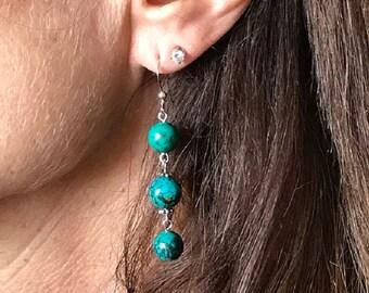 Sterling Silver 3 bead earring