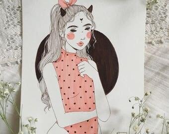 Valentine's Demon No. 2 (Original Artwork)