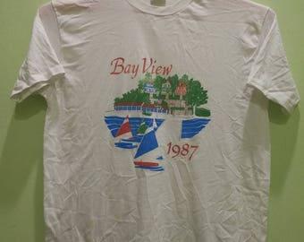 Rare Vintage T-Shirt Bay View 1987.