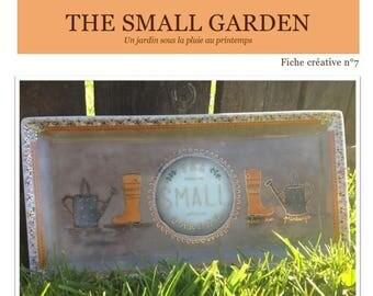 The small garden - Fiche créative peinture sur porcelaine