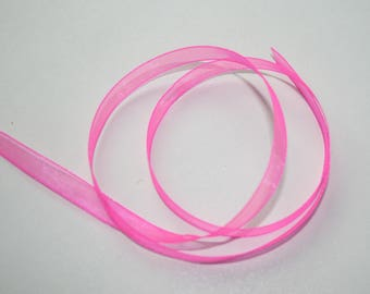 Pink organza Ribbon 6 mm wide