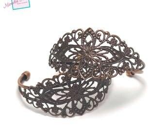 "gorgeous supports 1 ""filigree bracelet"", copper"