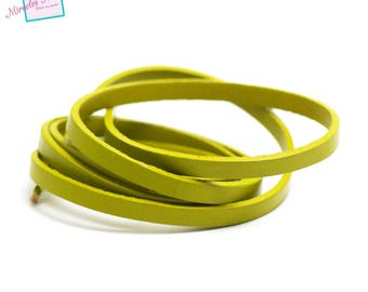 genuine 6 mm olive green leather cord 1 m