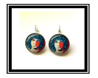 "Earrings original ""Jim Morrison"" vintage the Doors, Rock and roll, 70s, hippie"