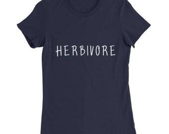 Vegan T-Shirt - Herbivore Shirt - Plant / Vegetables / Vegan Slogan Shirts - Vegetarian Tshirts Plants / Kale / Humor Cute Funny Women's Top