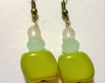 """""""Shades of green"""" earrings"""
