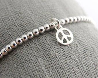 Ball bracelet peace 925 Silver
