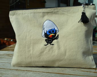 embroidered pouch calimero
