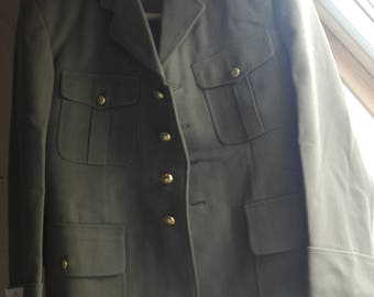 Military jacket gold button size M