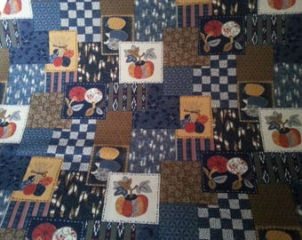Beautiful Navy blue traditional Japanese fabric