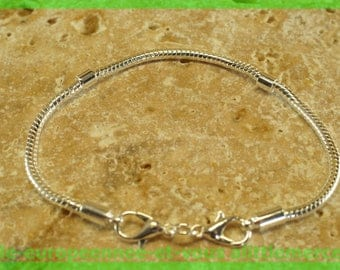 N47 clasp 19cm for European charms Pearl silver bracelet