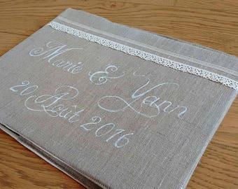 Gold wedding - Invitation-romantic - n 2 linen book